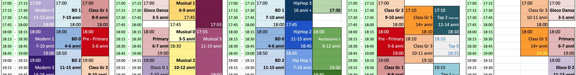 Ecco l'orario ufficiale delle classi Standard 2019-2020
